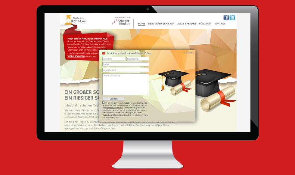 Responsive Webdesign Kontakformular
